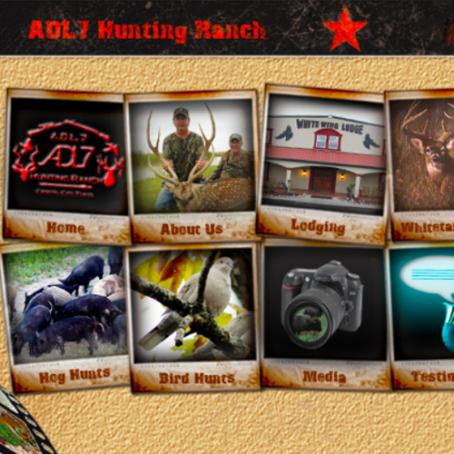 ADL7 Hunting Ranch Website
