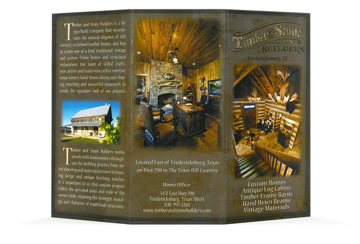 Timber & Stone Builders Brochure